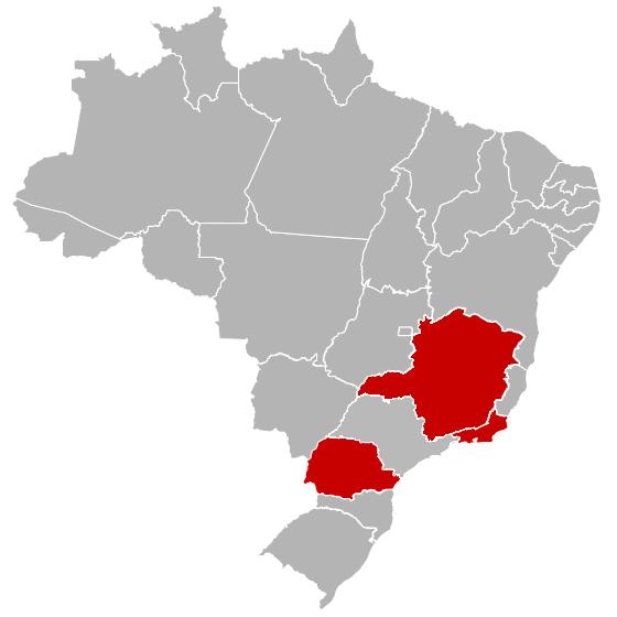Mapa com os Estados do Brasil
