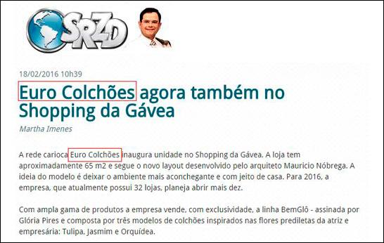 Euro Colchões agora também no Shopping da Gávea
