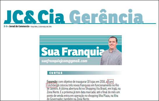 Matéria sobre Euro Colchões no Jornal do Comércio