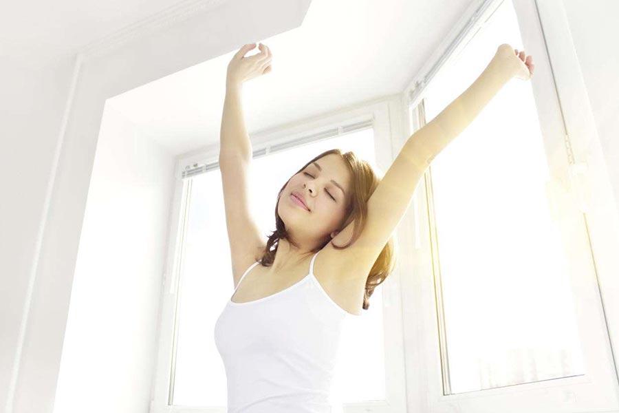 A respiração auxilia no sono