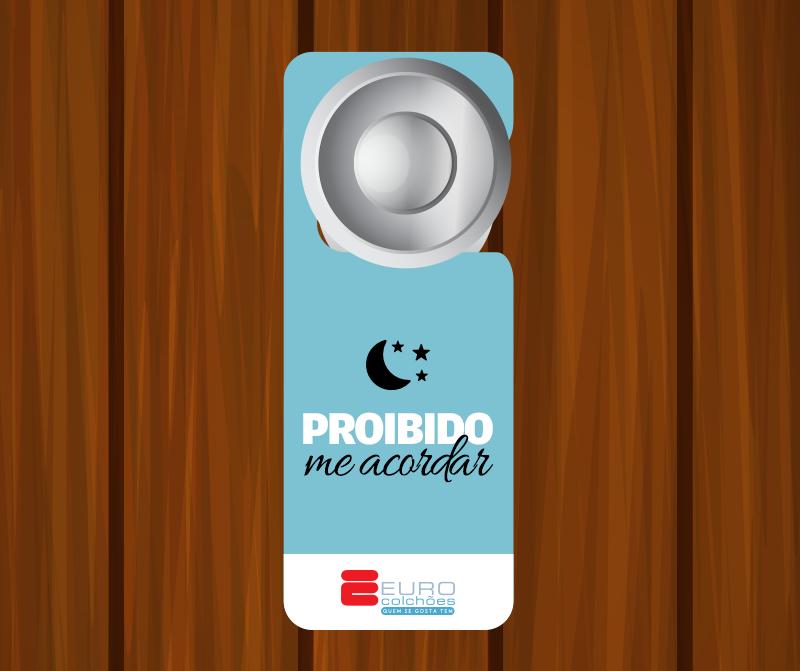Aviso personalizado de porta Euro Colchões